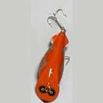 86-4 Scalloped Flash - Orange with Silver Scallop
