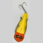 82-6 Scalloped Flash - Yellow with Orange Head and Silver Scallop